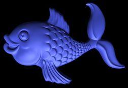 Золотая рыбка. 0д пример во stl формате
