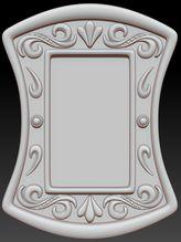 3D шаблон декоративной рамки