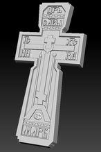 Модель креста на stl формате