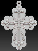 скачать 0д образец декоративного резного креста