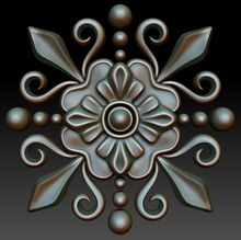 Free 0d model of decorative element